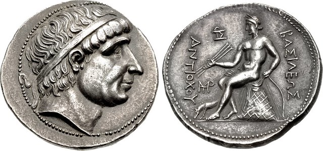 A Magnificent Greek Silver Tetradrachm of the Seleukid King Antiochos I Soter