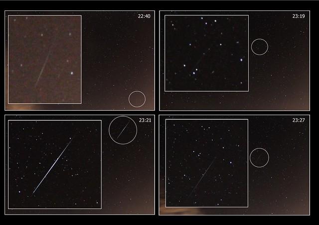 Geminid Meteors 1 to 4 13/12/14