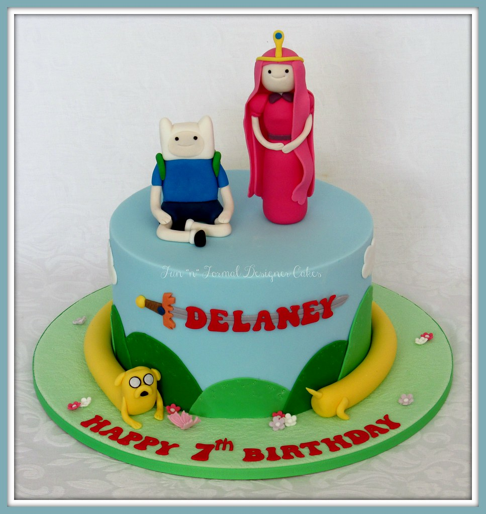 Fantastic Adventure Time Birthday Cake A Photo On Flickriver Funny Birthday Cards Online Fluifree Goldxyz