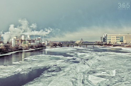 winter cold river landscape frozen nikon industrial factory cloudy smoke iowa hdr cedarrapids cedarriver d7000 clubd7000