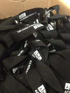 Lanyards from AMI just arrived for A11yYOW