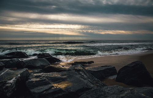 ocean morning sea seascape beach nature water md rocks waves cloudy jetty maryland wave atlantic offseason oceancity seashore ocmd