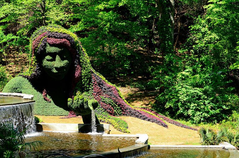 """"""" Atlanta Botanical Garden Fountain """""""