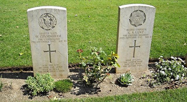 1939-1945: Salerno War Cemetery (Pontecagnano)