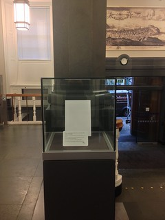 National Library of Scotland empty display case - October 2014