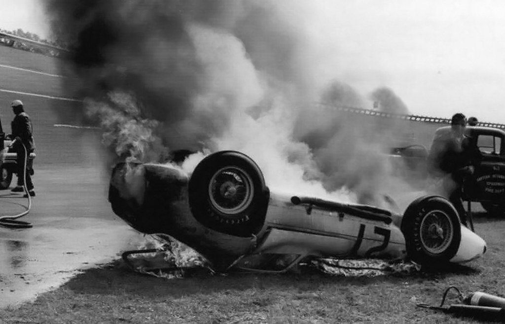 1963 Daytona Maserati Tipo on fire  | In 1963, as part of Sp