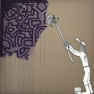 Zeda - Unfinished Painting Keith Haring 89 Acrylique sur Canevas | by zedaBD