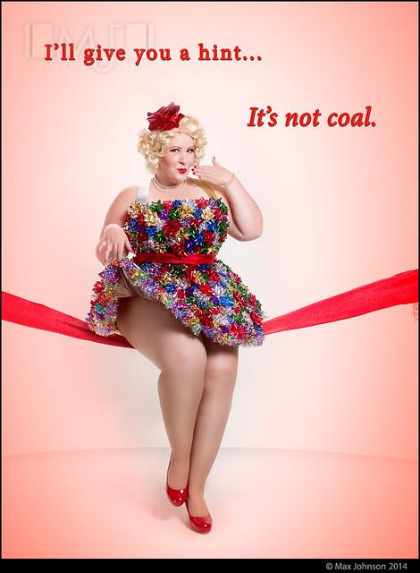 Christmas Pinup: It's Nicole, not coal...