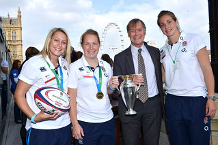 David Amess MP with members of England's victorious women's rugby team | by AmessD