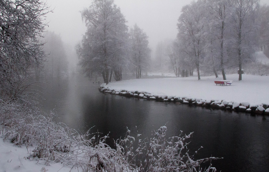 Vigelandparken, Oslo. Winter.