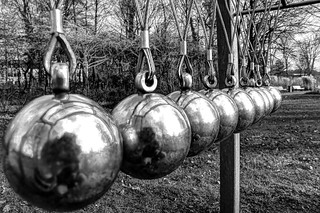 Newton's Cradle at Kurpark, Bad Laer Germany. | by Codenix