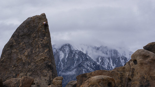 Climbing in the Alabama Hills