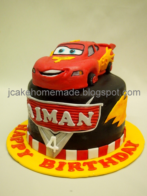 Remarkable Lightning Mcqueen Birthday Cake A Photo On Flickriver Funny Birthday Cards Online Fluifree Goldxyz
