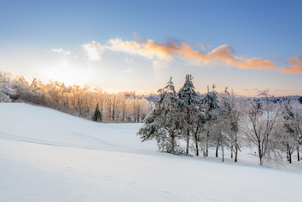 Sun Set Ice Hills