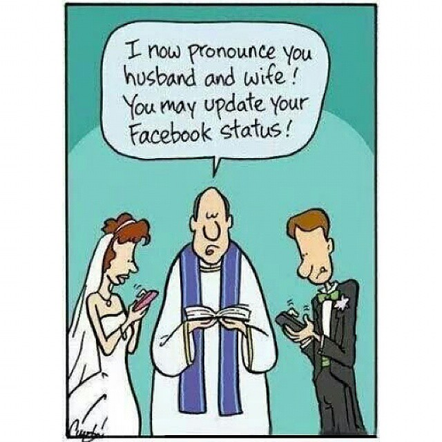 The modern wedding    What's your FB status? #english #fun… | Flickr