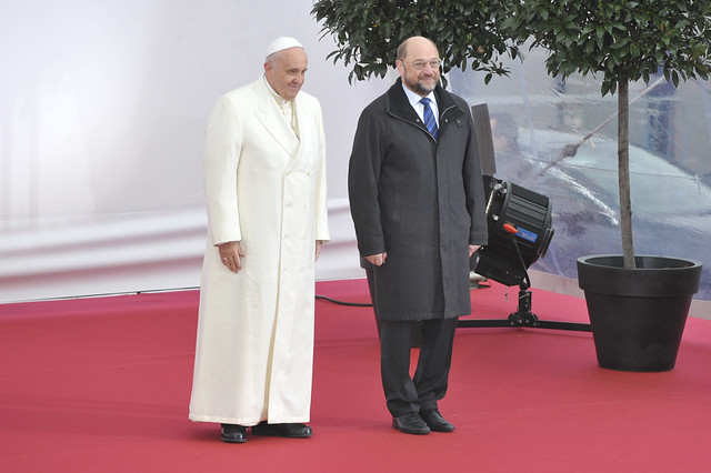 Arrival of Pope Francis to the EP