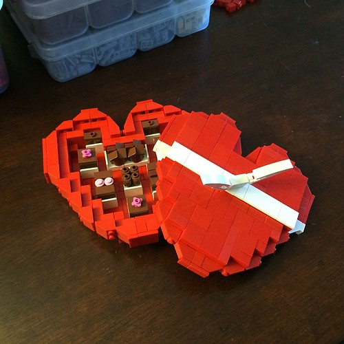 In progress LEGO Valentines gift. #valentine #chocolate #chocolates #lego #gift #valentinesday #valentines #moc #afol #boxofchocolates #love #instalego #sweet #sweets