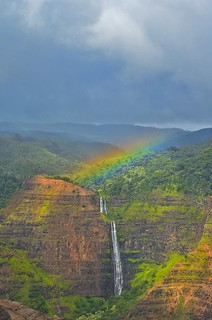 Rainbow over Waipo'o Falls | by Garden State Hiker