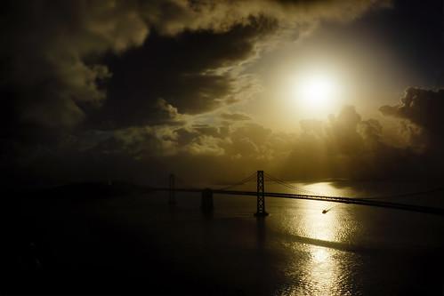 sanfrancisco sunrise landscape baybridge seashore
