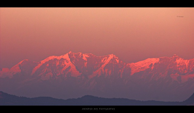 Sunset over Gangotri range,Musoorie,India
