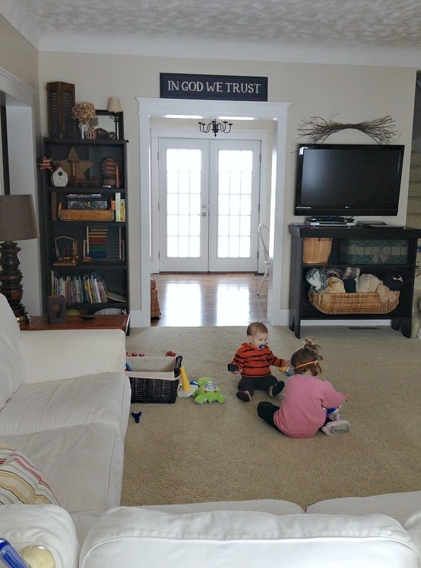 kids playing in the living room