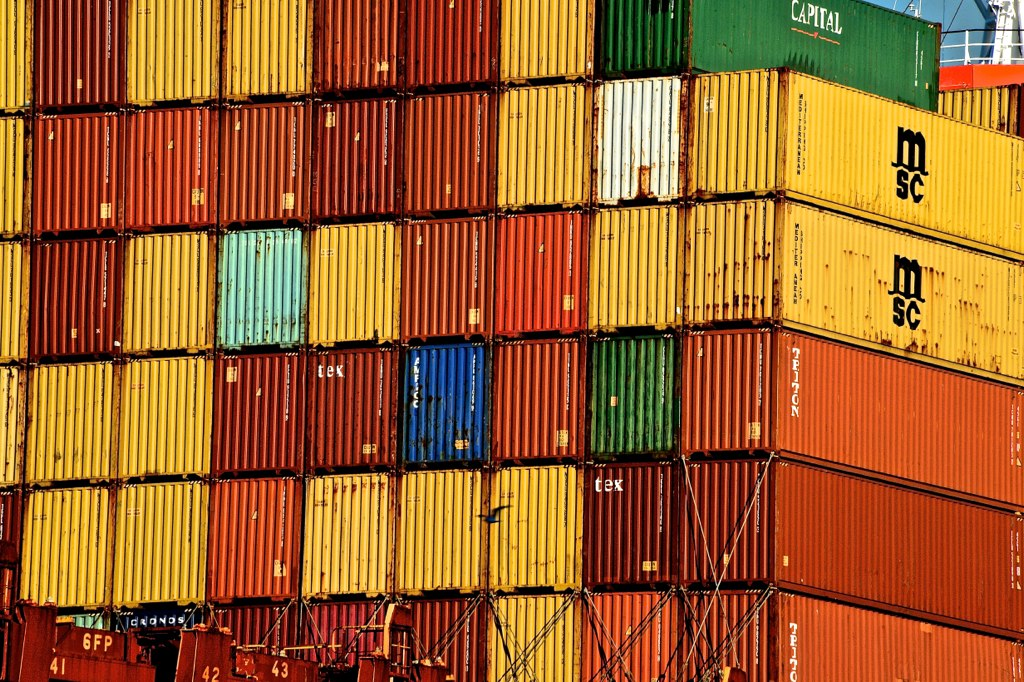 Onboard shipping containers, Savannah, GA | Flickr - Photo