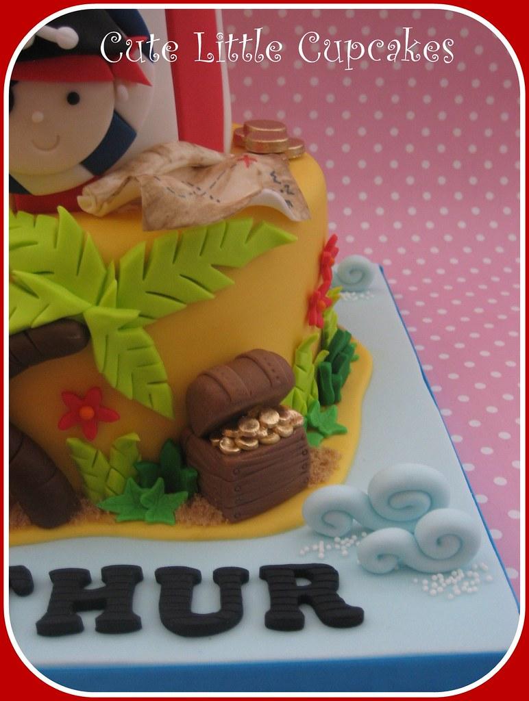 Wondrous Pirate Birthday Cake Heidi Stone Flickr Birthday Cards Printable Inklcafe Filternl
