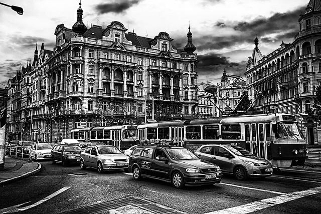 Traffico in Staroměstské náměstí   Trafic in Staroměstské náměstí