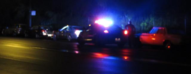 cop pulling over speeding driver, Kezar Drive (2014)