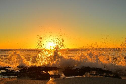 ocean sunset beach kalbarri