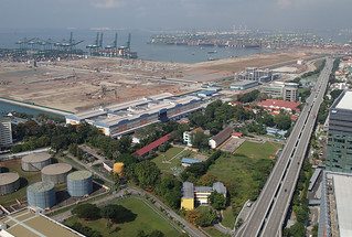 PB120333a Pasir Panjang Container Terminal and Jurong Island from PSA Building | by budak