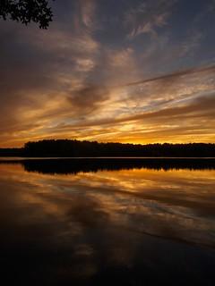 Sunset over Spot Pond