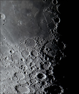 Sunset on the Moon's Straight Wall and the Crater Tycho | by Latent0Image