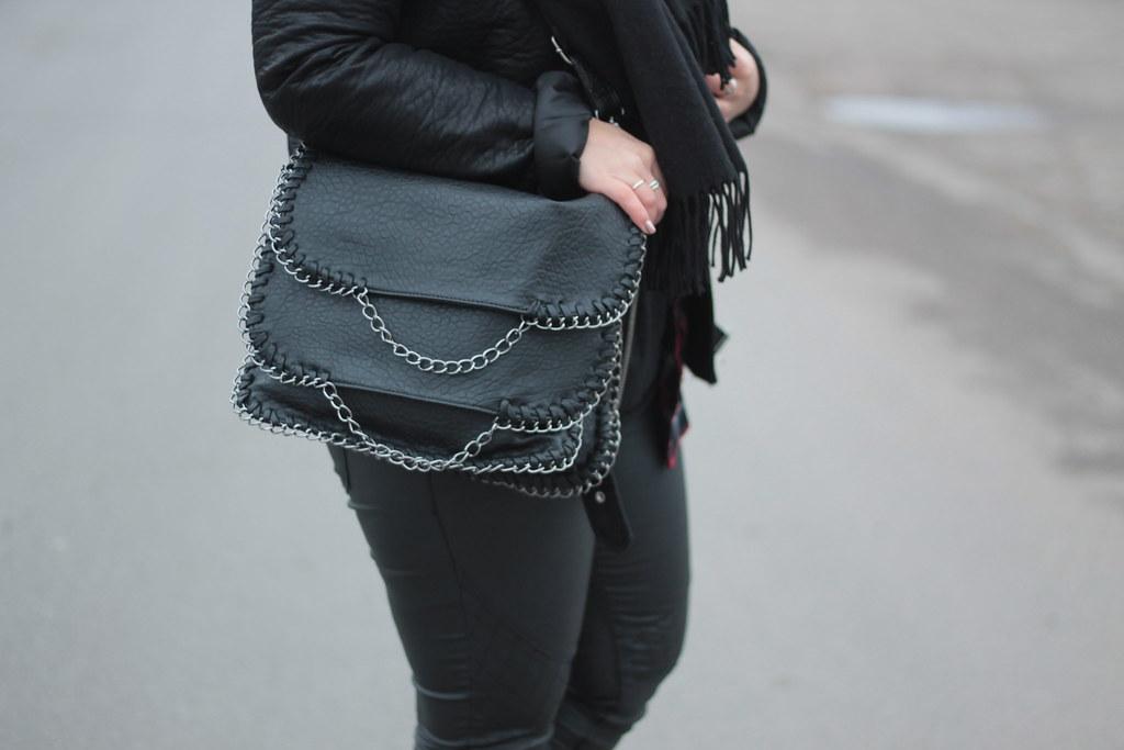 tasche ketten newyorker blogger fashionblog schwarz silber