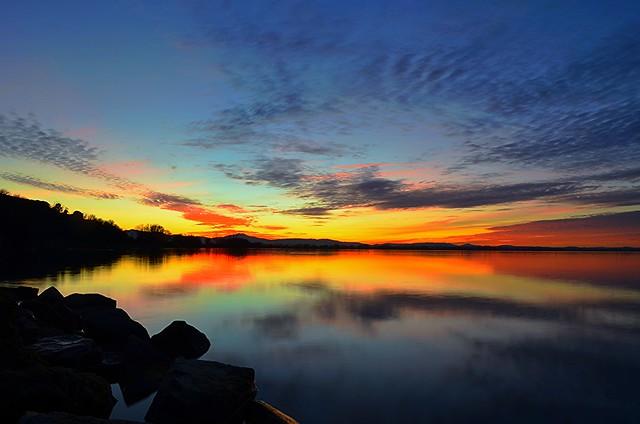 sky and lake