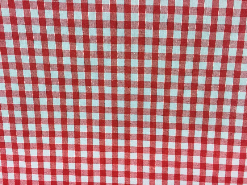 Fabric-Red-Gingham