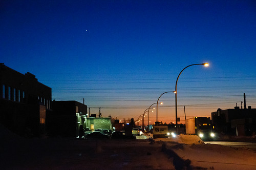 winter light sunset sky canada night twilight colorful quebec dusk afterwork québec rushhour bluehour eveningsky laval prettysky drivehome 2015 c365