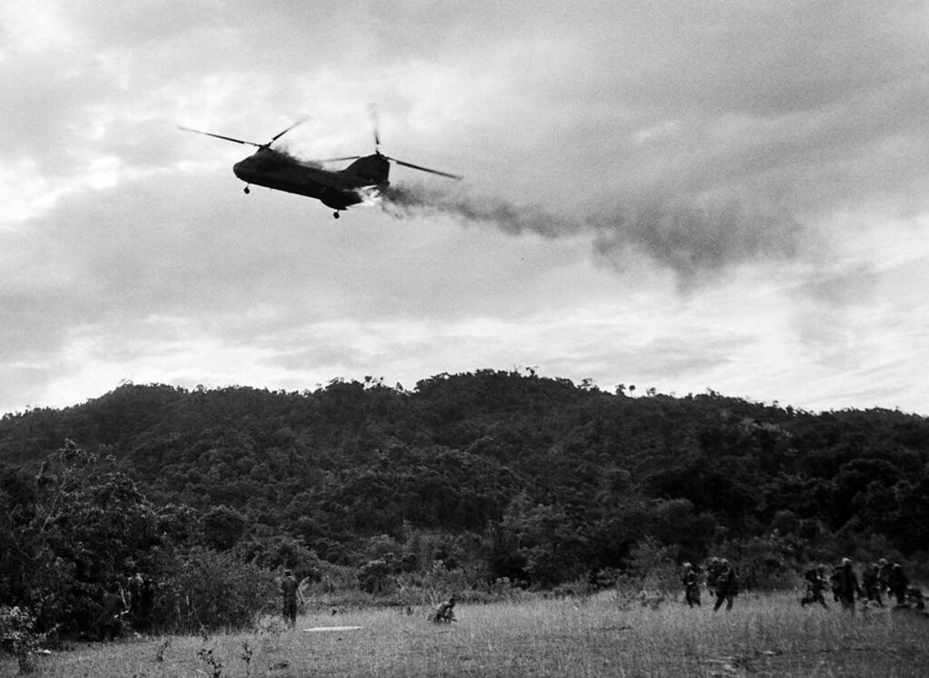 Vietnam War 1966 - Helicopter Downed | A U S  Marine CH-46 S