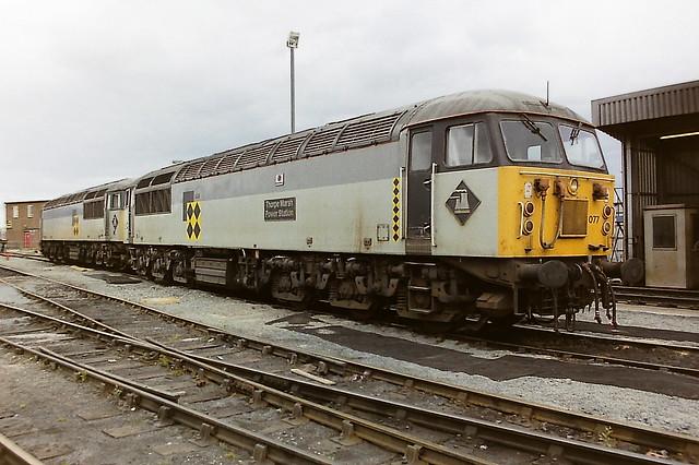 BRITISH RAIL COAL SECTOR LIVERIED 56077 THORPE MARSH POWER STATION