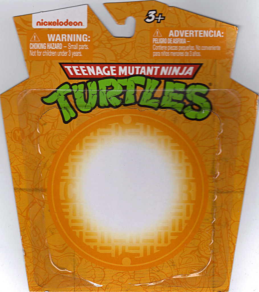 MONOGRAM INTERNATIONAL :: TEENAGE MUTANT NINJA TURTLES; COLLECTIBLE FIGURINES / MICHELANGELO ..card backer (( 2014 )) by tOkKa