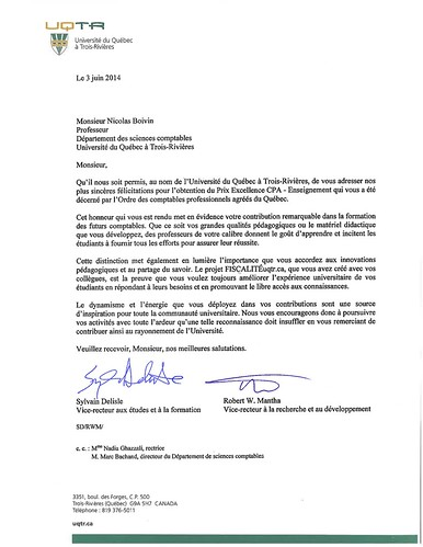 LettreFelicitationsCPA | by FISCALITÉuqtr.ca