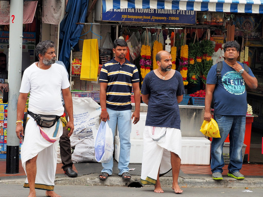 Street Photography - Sarongs and jeans