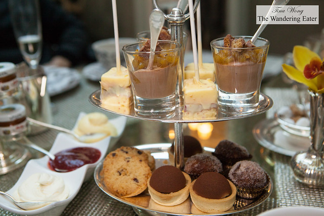 Desserts portion of afternoon tea at The Greenhouse
