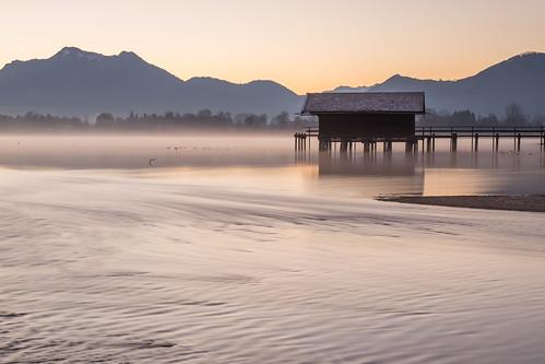 lake sunrise canon germany de landscape flow bayern bavaria europa jetty chiemsee prien 6d herkunft chiemgau dedeutschland