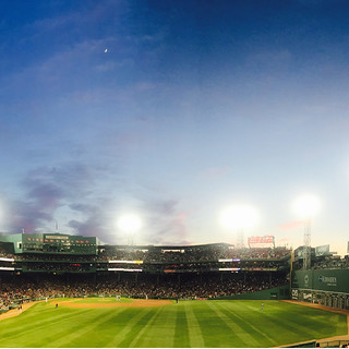 Crescent Moon Over Fenway