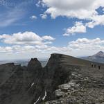 Approaching high point on Singleshot Mountain