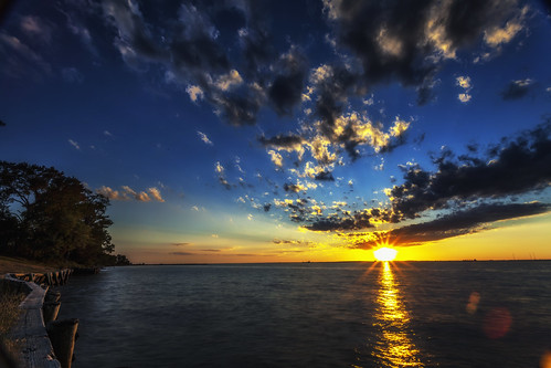 Photo of sunset over Chesapeake Bay