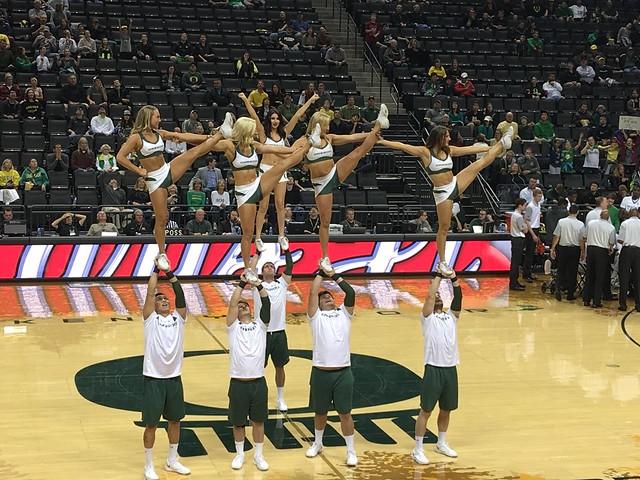 Oregon Duck Cheerleaders. 2015