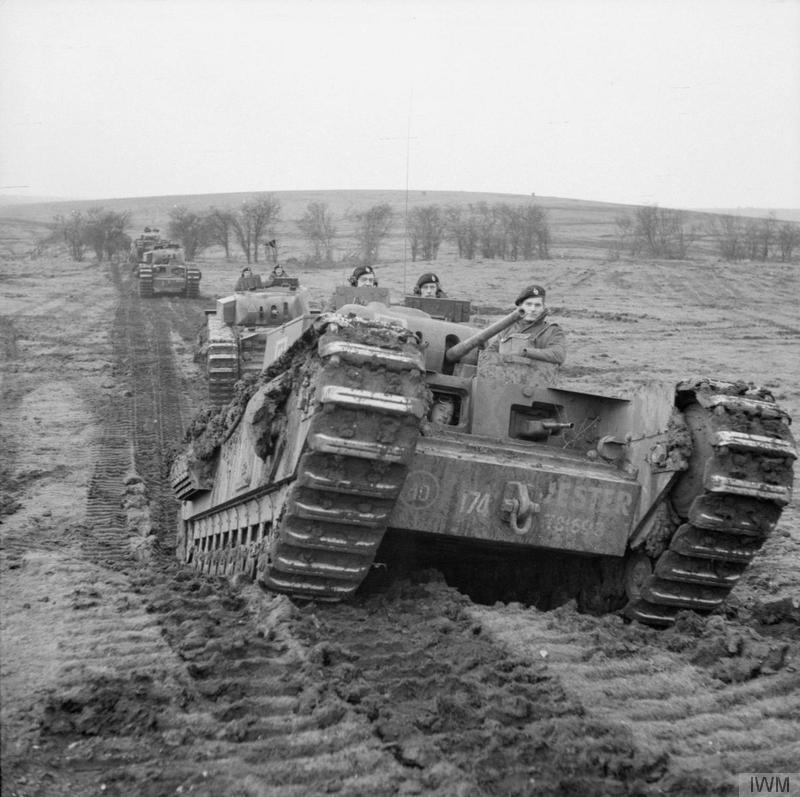 """Churchill tanks of 'B' Squadron"