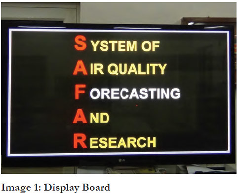 SAFAR : System of Air quality Forecasting And Research in